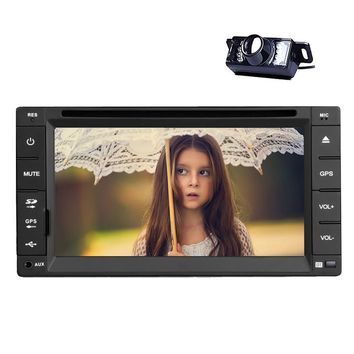 "Eincar In dash 6.2"" Double din Car Stereo in deck Auto DVD Player Digital Touchscreen Radio Receiver Head Unit with Autoradio Bluetooth Support USB SD FM AM RDS Video Player Aux Subwoofer Multimedia"