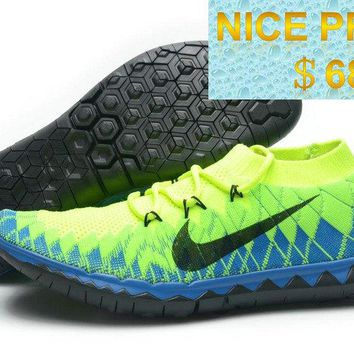 2018 Discount WMNS Nike Free 30 Flyknit Volt Neo Green Turquoise Electric Green Black sneaker