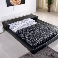 Kartier Contemporary Platform Bed-black (King)
