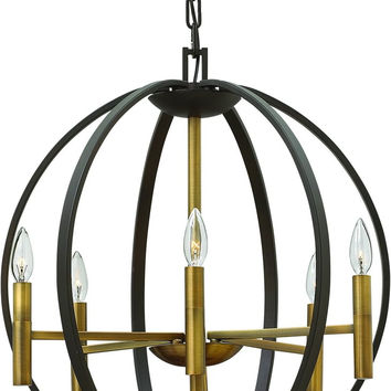 0-023710>Euclid 6-Light Chandelier Spanish Bronze 3466SB
