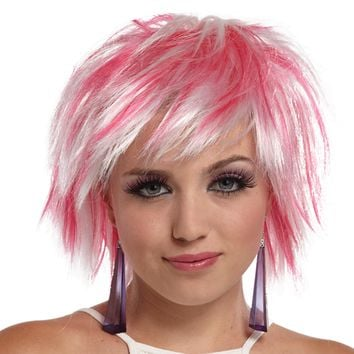 Punky Pixie Wig White-hot Pink for 2017