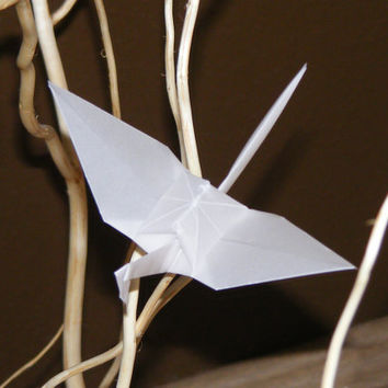 Origami wedding crane, set of 100 origami crane, tracing paper crane, wedding origami, wedding crane, wedding decor crane, tracing paper