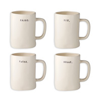 Rae Dunn Chair Mugs, Set of 4