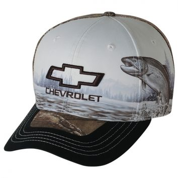Chevrolet Bowtie Wild Life Trout new ball cap w/tags by Realtree