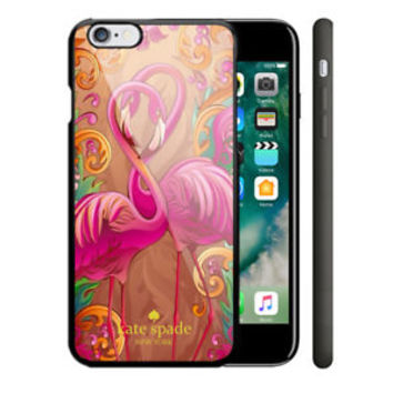 New Best Flamingo Pink Kate Spade For iPhone 7 7+ 8 8+ Cover Protect Case