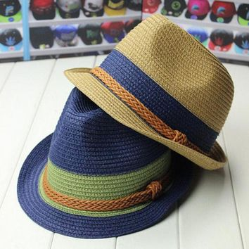 2016 Wide Brim Sun Hats For Women Jazz Caps Panama Fedoras Unisex Top Beach Visor Hat Straw Cap Brief Solid