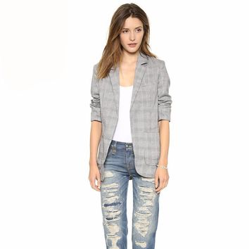 Blazer Coat Blazers for Women Ladies Blazer Blazer Jacket Plaid Sports Blazer