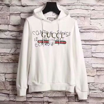 "The new ""Gucci"" men's pure cotton sweater, upper body effect is super, fashion hundred simple style of ancient embroidery sweater"