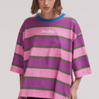 Lazy Oaf Food Baby Stripe Tee