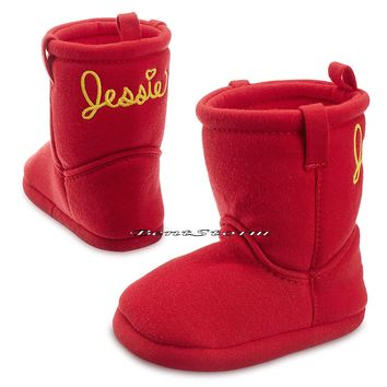 Licensed cool Toy Story Cowgirl JESSIE COSTUME BABY BOOTS SLIPPERS 0-24 Months Disney Store