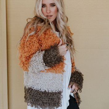 Desert Daze Shaggy Cardigan Sweater