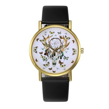 Retro Casual Quartz Watch Women Ladies Fashion PU Leahter Wrist Watch Female Clock Montre Femme Relogio Feminino #504