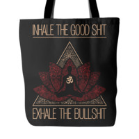 Inhale the Good Sh** Buddha Meditation Lotus Mandala * Unique Attractive Gift * Tote Bag