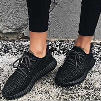 Fashion Adidas Women Yeezy Boost Sneakers Running Sports Shoes Black