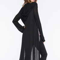 LOTTIE & HOLLY Hooded Hachi Womens Maxi Cardigan | Cardigans & Wraps