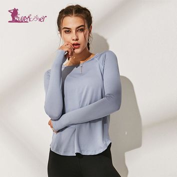 Lurehooker Yoga Top Gym Sports Vest Shirts Women Running Breathable Clothes Womens Shirt Fitness Clothing Full Sleeve Yoga Shirt