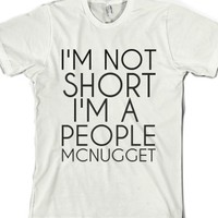 White T-Shirt | Funny Short People Shirts