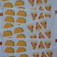 24 Taco and Pizza Stickers, Dinner, Meal, Erin Condren, Plum Paper, Filo Fax, Planner,