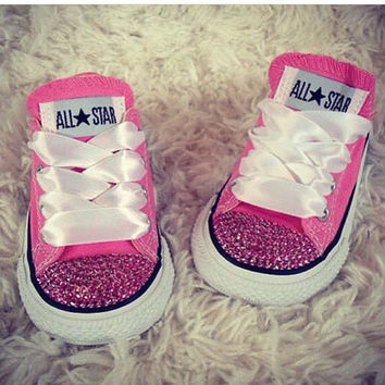 Cotton Candy Baby Girl Custom Bling Chuck Taylor's