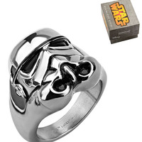 Stainless Steel 3D Storm Trooper Ring by Inox Jewelry