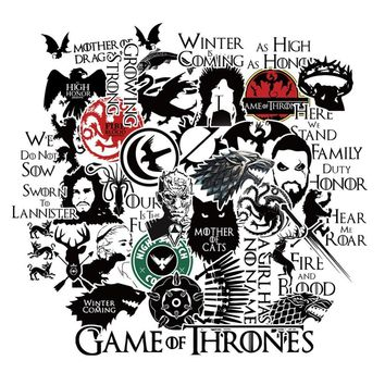 HaokHome Game of Thrones Vinyl Sticker Bomb Black Car Bumper Computer Laptop Cup Scrapbooking refrigerator waterproof Decal
