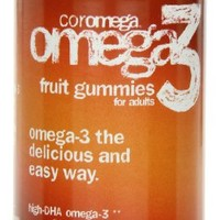 Coromega Adult Dha Gummy Fruits, 60-Count