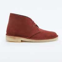 Clarks Maroon Desert Boots - Urban Outfitters