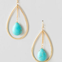 CAIRNWAY TURQUOISE TEARDROP EARRINGS