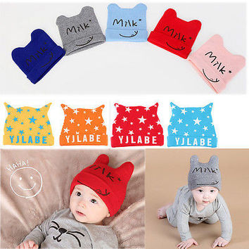 Winter 2016 crochet knitted Baby hat kids warm cap children beanies boys girls outdoor head wear accessories child gift