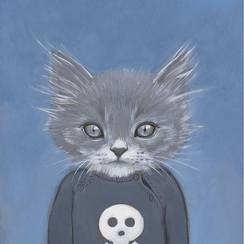 $26.00 Posters 16 x 20 inches Cats In Clothes by HeatherMattoonArt