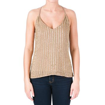 W118 by Walter Baker Womens Whitney Chiffon Embellished Tank Top