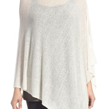 Eileen Fisher Sheer Hemp Blend Poncho | Nordstrom