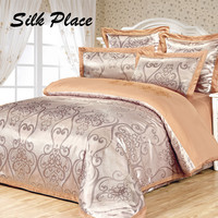 SILK PLACE Cheap Luxury Bedding Sets Cotton Quilt Duvet Cover Sets Queen King Size Luxury Bedding Full Coverlets Moscow Supply