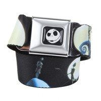 The Nightmare Before Christmas Jack & Sally Seat Belt Belt