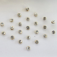 60 SPARKLY Stick On Fake Nose Studs/Golden Fake Nose Labret Monroe Ear Studs/Sel