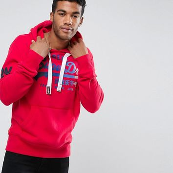 Superdry Hoodie With Large Logo at asos.com