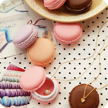 4*4*2CM Cute C y Color Macaron Mini Storage Box Jewelry Box Pill Carrying Cases Birthday Gift SM6