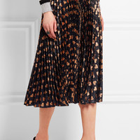 Gucci - Pleated printed lamé skirt