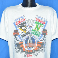 90s Pittsburgh Penguins 1991 Stanley Cup Champions t-shirt Large