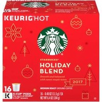 Starbucks® Holiday Blend Medium Roast Coffee - K-Cup Pods - 16ct
