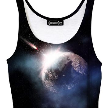 Impact Dark Planet Galaxy Crop Top