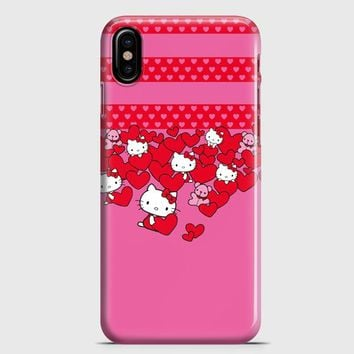 Hello Kitty Hearts iPhone X Case