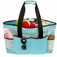 Mesh Beach Bag -Extra Large Beach Tote Bag - Grocery & Picnic Tote Travel Bags