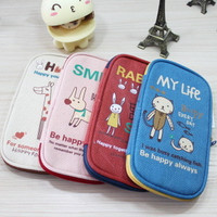 Canvas Pen Bags Cartoons Animal Big Size Strong Character Stationary [6282193286]