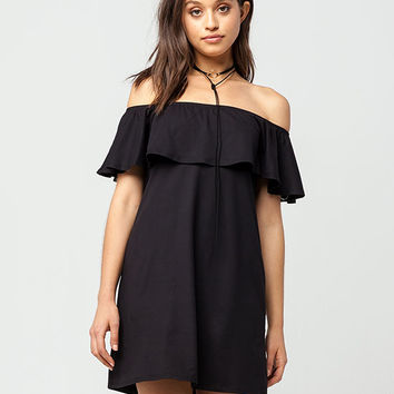 FULL TILT Off The Shoulder Ruffle Dress | Short Dresses