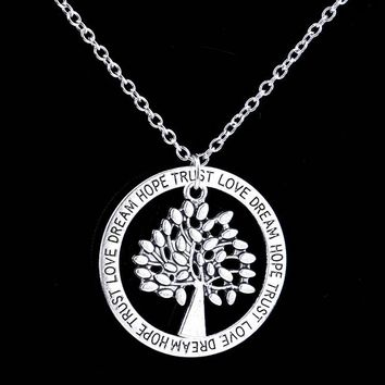 Charm Silver Tree of Life ~ Pendant Necklace  Family Tree 03