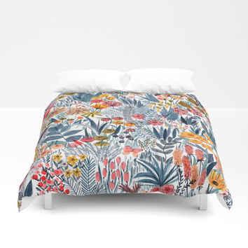 Flowers Duvet Cover by Mouni Feddag