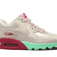 Nike Women's Air Max 90 Dsty Gry/Dsty Gry/Grn Glw/Rspb Running Shoe 8.5 Women US