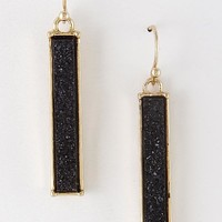 Gold/Black Dangly Sparkly Bar Earring