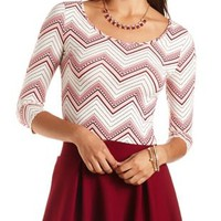 Printed Twist-Back Cotton Crop Top by Charlotte Russe - Ivory Combo